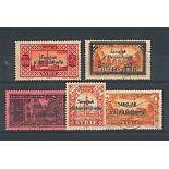 Collection timbres Alexandrette oblitérés différents