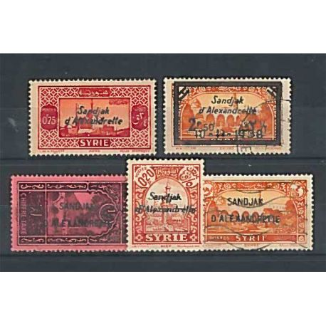 Collection Alexandrette stamps 10 different stamps