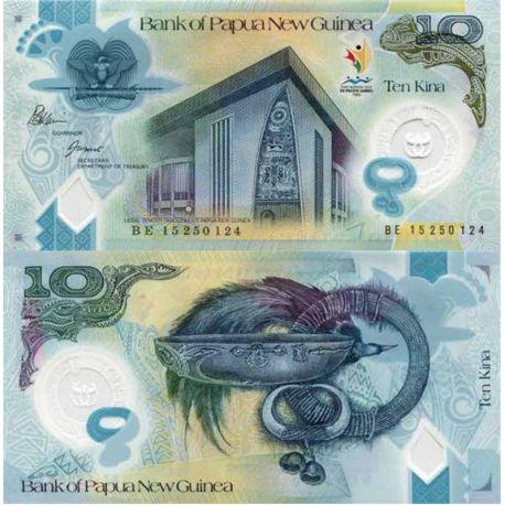 Banconote di banca raccolta Papouasie Nlle Guinea - PK N° 999 - 10 Kina