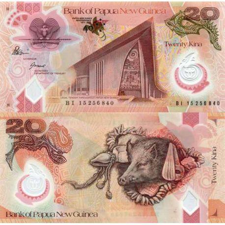 Banconote di banca raccolta Papouasie Nlle Guinea - PK N° 999 - 20 Kina