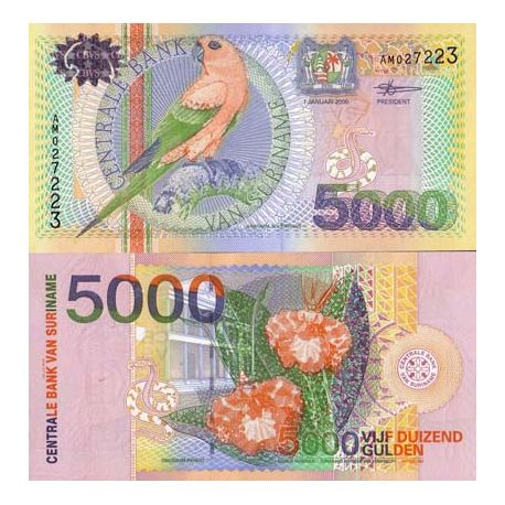 Banknote Sammlung Surinam - PK Nr. 152 - 5000 Gulden