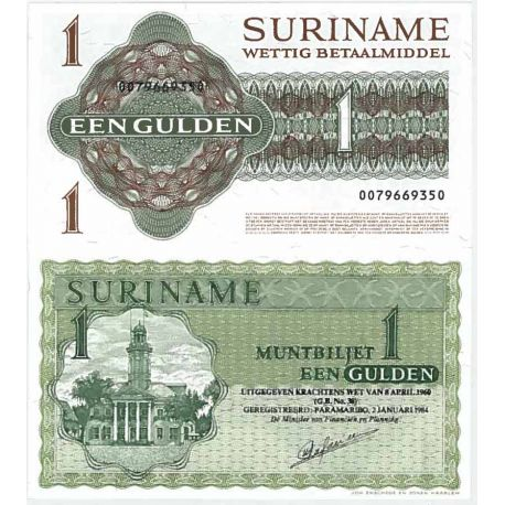 Banknote collection Suriname - Pick number 116 - 1 Gulden
