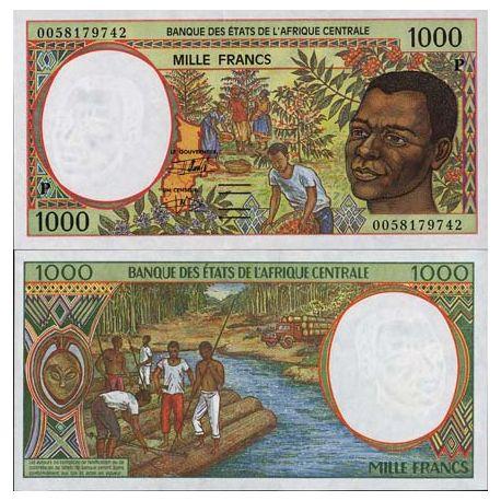 Banconote di banca raccolta Africa centrale Ciad - PK N° 602P - 1000 franchi