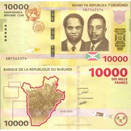 Banknote Burundi collection - Pick N° 999 - 10,000 Francs