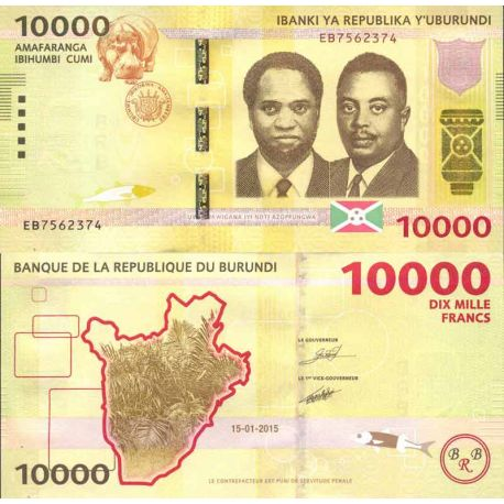 Billete de banco colección Burundi - PK N° 999 - 10.000 Francos