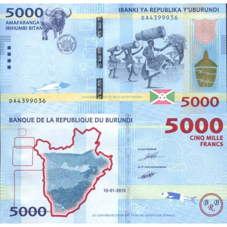 Billets de collection Billet de banque collection Burundi - PK N° 53 - 5 000 Francs Billets du Burundi 19,00 €