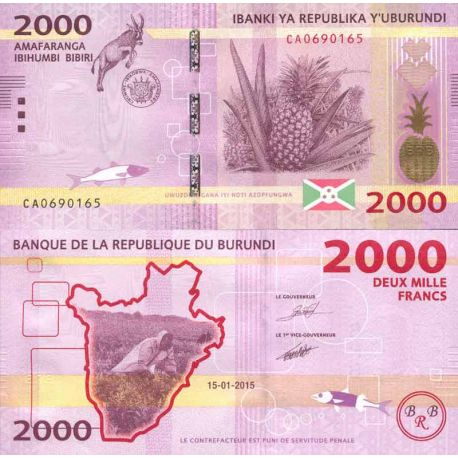Billets de collection Billet de banque collection Burundi - PK N° 52 - 2 000 Francs Billets du Burundi 6,00 €