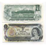 Precioso de billetes Canadá Pick número 85 - 1 Peso 1969