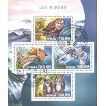 Block 4 Briefmarken André Citroën, die in Niger hervorgebracht wurden