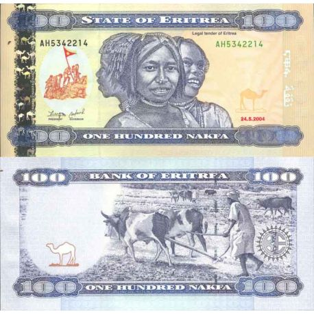 Banknote Eritrea collection - Pick numbers 8 - 100 Nakfa