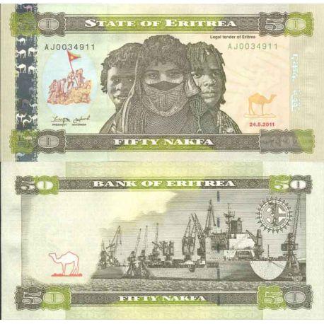 Banconote di banca raccolta Erythree - PK N° 9 - 50 Nakfa