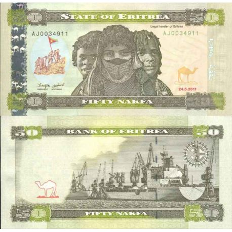 Banknote Eritrea collection - Pick numbers 9 - 50 Nakfa