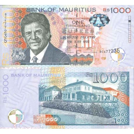 Banknote collection Maurice - Pick numbers 63 - 1,000 Ruppees