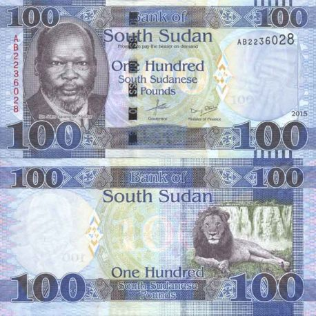 Billete de banco colección Sudán del Sur - PK N° 10B - 100 Pounds