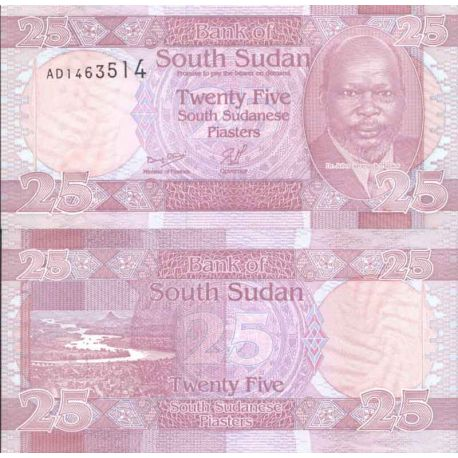 Banknote Sudan collection of the South - Pick number 3 - 25 Piastres