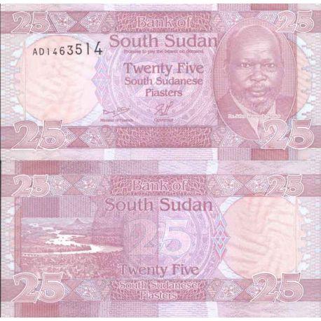 Billete de banco colección Sudán del Sur - PK N° 3 - 25 Piastras