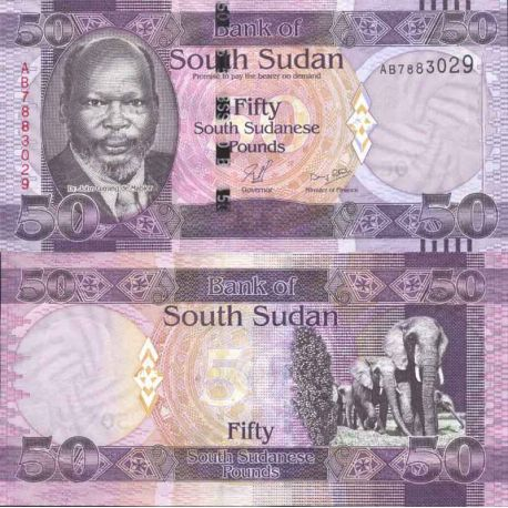 Banknote Sudan collection of the South - Pick numbers 9 - 50 Pounds