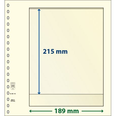 Pacchetti di 10 strati neutrali Lindner-T 1 banda 215 mm