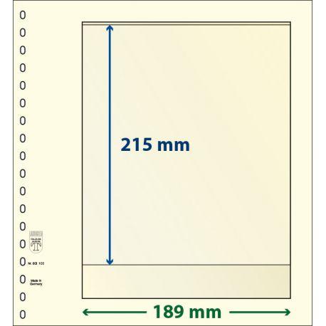 Paquet de 10 feuilles neutres Lindner-T 1 bande 215 mm