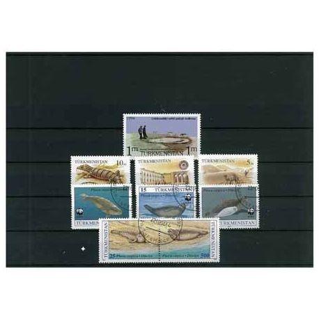Turkmenistan - 5 timbres différents