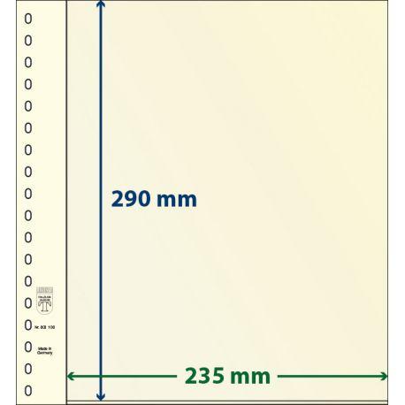Paquet de 10 feuilles neutres Lindner-T 1 bande 290 mm