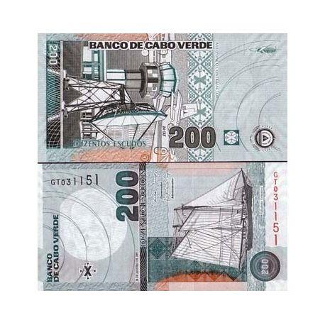Billets de collection Billet de collection Cap Vert Pk N° 68 - 200 Escudos Billets du Cap vert 9,00 €