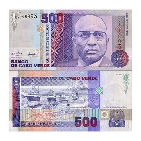 Billet de banque Cap Vert Pk N° 59 - 500 Escudos