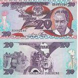 Billete de banco colección Tanzania - PK N° 9 - 20 Chelines