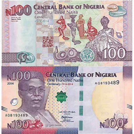 Banknote Sammlung Nigeria - PK Nr. 41 - 100 Naira