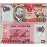 Billete de banco colección Mozambique - PK N° 151 - 100 Meticais