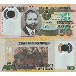 Billete de banco colección Mozambique - PK N° 150 - 50 Meticais