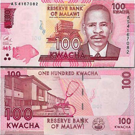 Billet de banque collection Malawi - PK N° 59 - 100 Kwacha