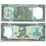 Billete de banco colección Liberia - PK N° 30 - 100 Dólares