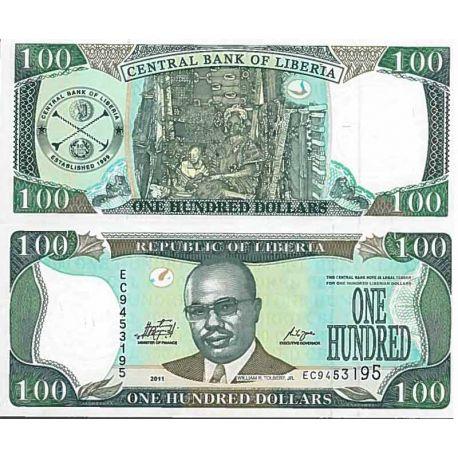 Billet de banque collection Liberia - PK N° 30 - 100 Dollars