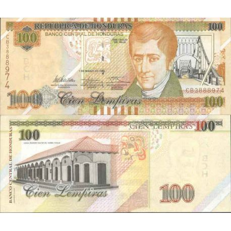 Billet de banque collection Honduras - PK N° 999 - 100 Lempiras
