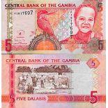 Billete de banco colección Gambia - PK N° 25 - 5 Dalasis