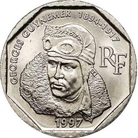 Pièce 2 francs Georges Guynemer 1997
