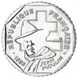 Moneda 2 francos Jean Moulin 1993