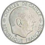 Münzen 1 Franc Charles de Gaulle 1988