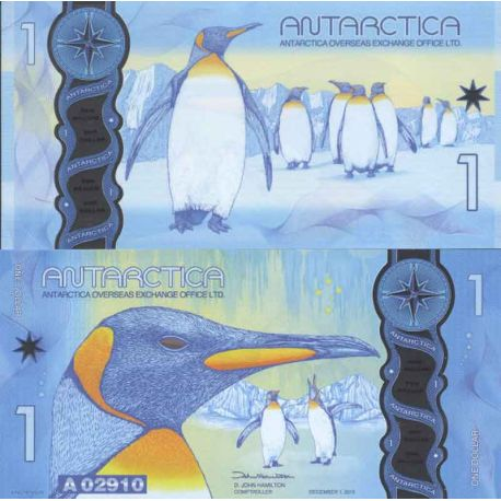 Billet Antarctique - Billet de 1 Dollars Antarctique