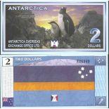 Billete la Antártida - Billete de 2 Dólares la Antártida