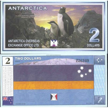 Antarctic banknote - Banknote of 2 Antarctic Dollars