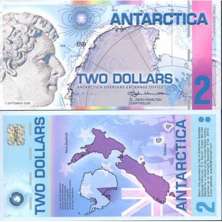 Billet Antarctique - Billet de 2 Dollars Antarctique