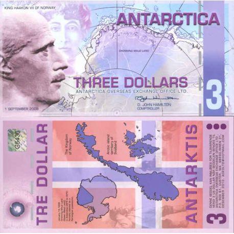 Banknote Antarktis Ross - Banknote von 2 Dollar Antarktis