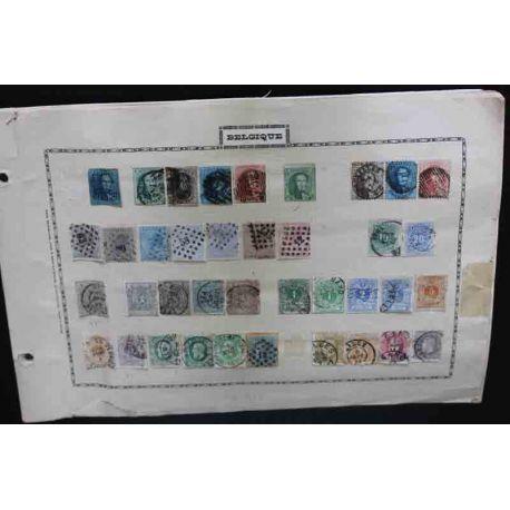 Belgique Collections de timbres neufs et oblitérés