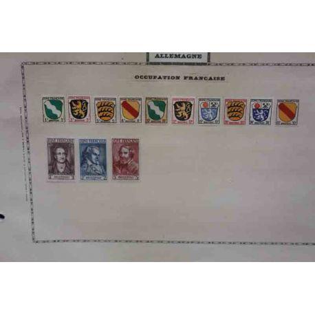 Collection de timbres de la Z.O.F.A 1945/1949