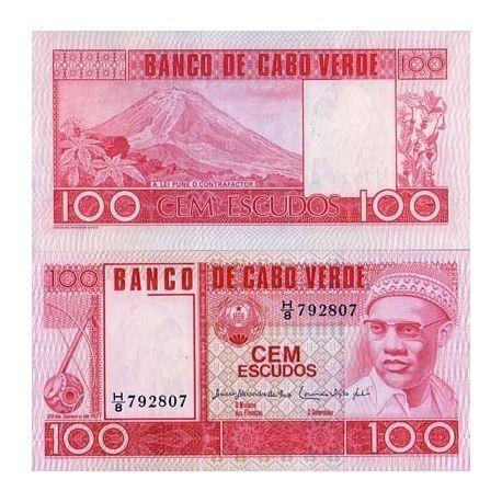 Billet de collection Cap Vert Pk N° 54 - 100 Escudos