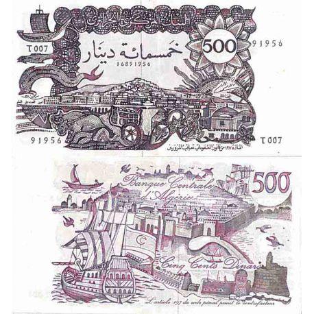 Billete de banco colección Argelia - PK N° 129 - 500 Dinares