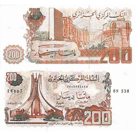 Billete de banco colección Argelia - PK N° 135 - 200 Dinares