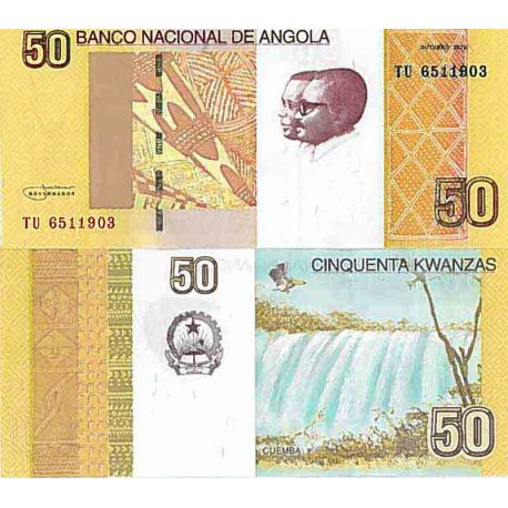 Billete de banco colección Angola - PK N° 152 - 50 Kwanza